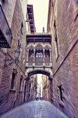Dzielnicy gotyckiej w Barcelonie, Hiszpania — Zdjęcie stockowe