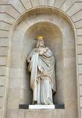 Statue of James I The Conqueror decorating Palau de la Generalitat, Barcelona — Stock Photo