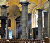 Collegiate church of Saint-Denis of Liege, Belgium — Stock Photo