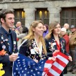 Participants of Poppy Parade commemorating 100 years of World War I — Stock Photo #60026379