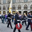 Poppy Parade commemorating 100 years of World War I march from Grand Place to Porte de Menin — Stock Photo #60026425