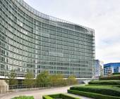 Modern building of the European Commission headquarter in Brussels — Stock Photo