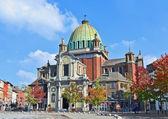 Center of Charleroi and Saint-Christophe church. — Stock Photo