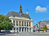 City hall in historical center of city Charleroi — Stock Photo