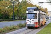 Tram di linea Rabot-Melle Leeuw. Gand, Belgio — Foto Stock
