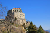 Monastery Sacra di San Michele or Saint Michael's Abbey in Piedmont, Italy — Stock Photo