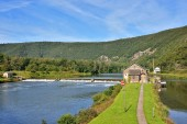 Dam on Meuse river in Ardennes, France — Stock Photo