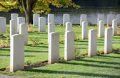 Ramparts cemetery of Commonwealth War Graves Commission in Ypres, Belgium — Stock Photo