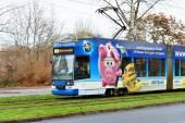 Tram in Leipzig — Stockfoto