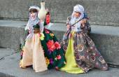 Doll in Kurdish national costume exposed in center of city in frame of Kurdish Cultural Week — Stock Photo