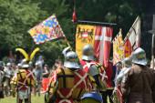 Medieval Celebration of battle of 1477 in Deurne, Belgium — Stock Photo