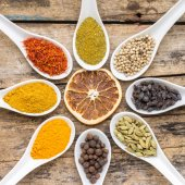 Spices recipe background. — Stock Photo