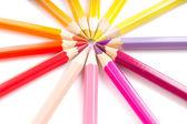 Color pencils arrangement in circle   — Stock Photo
