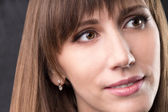 Close up portrait of young caucasian woman. — Stock Photo