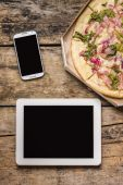 Mobile workspace of freelancer — Stock Photo