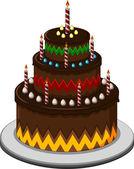 Birthday cake for you design — Stock Vector