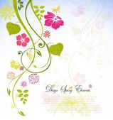 Flower spring background with text for you design — Stock Vector