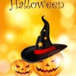 Happy halloween background with pumpkin — Stock Vector #56040105