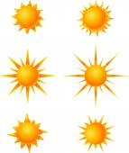 Suns icons for you design — Stock Vector