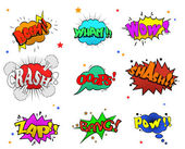 Collection of multicolored comic sound Effects for you design — Stockvektor