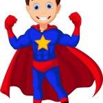 Cute superhero posing — Stock Vector #66432675