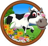 Cow cartoon posing — Stock Vector