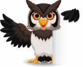 Cute owl cartoon with blank sign — Stock Vector