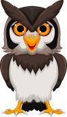 Cute owl cartoon posing — Stock Vector