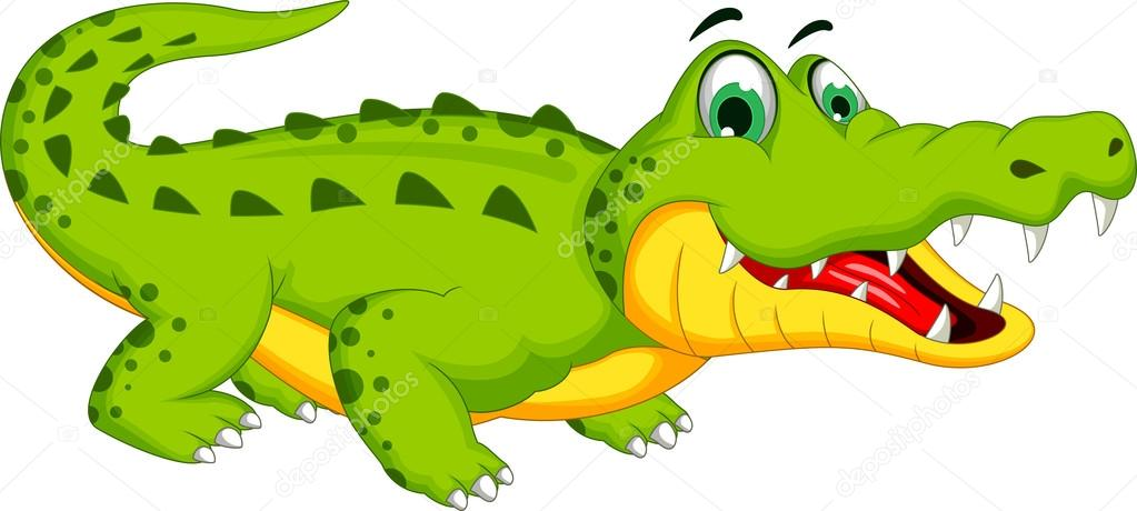 Stock Illustration Cute Crocodile Cartoon