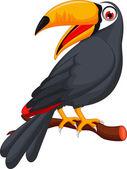 Cute cartoon toucan bird — Stock Vector