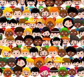 Happy children different races — Stock Vector