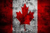 Grunge flag of Canada with capital in Ottawa — Stock Photo