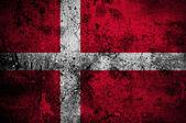 Grunge flag of Denmark with capital in Copenhagen — Stock Photo