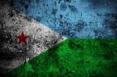 Grunge flag of Djibouti with capital in Djibouti  — Stock Photo