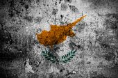 Grunge flag of Cyprus with capital in Nicosia — Stock Photo