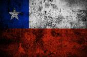 Grunge flag of Chile with capital in Santiago — Stock Photo