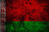 Grunge flag of Belarus with capital in Minsk — Stock fotografie