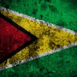 Grunge flag of Guyana with capital in Georgetown — Stock Photo #54028889
