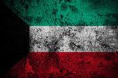Grunge flag of Kuwait with capital in Kuwait City — Foto de Stock