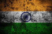 Grunge flag of India with capital in New Delhi — Stock Photo