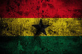 Grunge flag of Ghana with capital in Accra — Stock Photo
