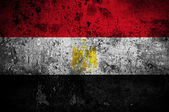 Grunge flag of Egypt with capital in Cairo — Stock Photo