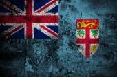 Grunge flag of Fiji with capital in Suva — Stock Photo