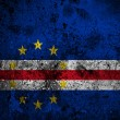 Grunge flag of Cape Verde with capital in Praia — Stock Photo #54745593