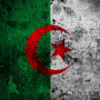 Grunge flag of Algeria with capital in Algiers — Стоковое фото #54745645