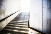 Tunnel Staircase going up to the light — Stock Photo