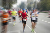 International marathon runner — Stock Photo