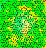 Green abstract mosaic, background illustration of mosaic — Stock Photo