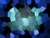 Blue abstract mosaic, background illustration of mosaic — Stock Photo