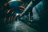 Underground Tunnel in the Mine, HDR — Stock Photo
